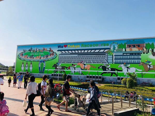 東京競馬場の内馬場の様子