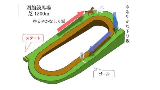 函館競馬場 芝1200mのコースで特徴を解説