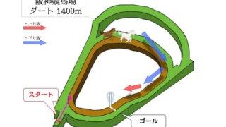 阪神競馬場 ダート1400mのコースで特徴を解説
