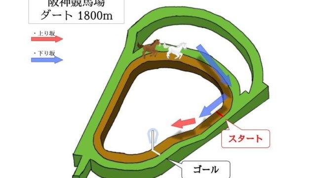 阪神競馬場 ダート1800mのコースで特徴を解説