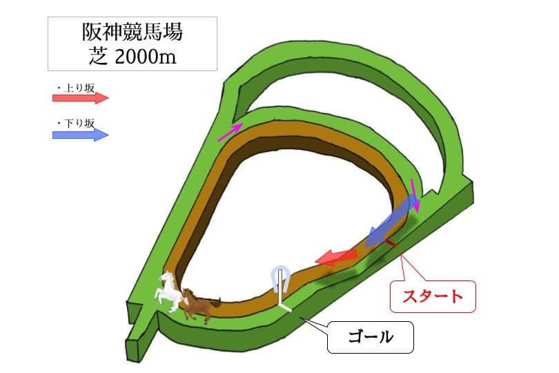 阪神競馬場 芝2000mのコースで特徴を解説