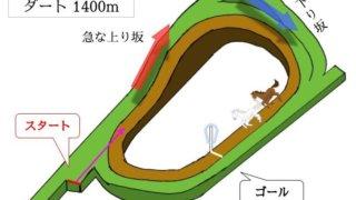 京都競馬場 ダート1400mのコースで特徴を解説
