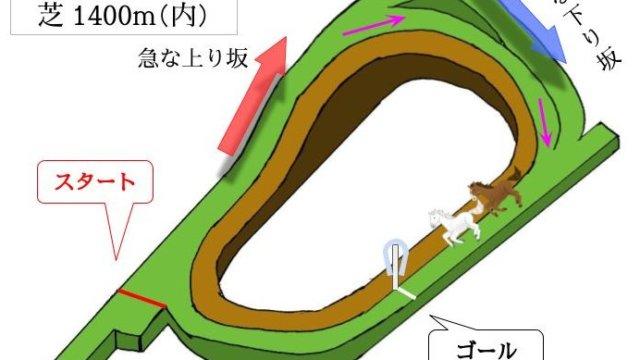 京都競馬場 芝1400(内)mのコースで特徴を解説
