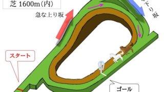 京都競馬場 芝1600m(内)のコースで特徴を解説