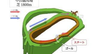 中山競馬場 芝1800mのコースで特徴を解説