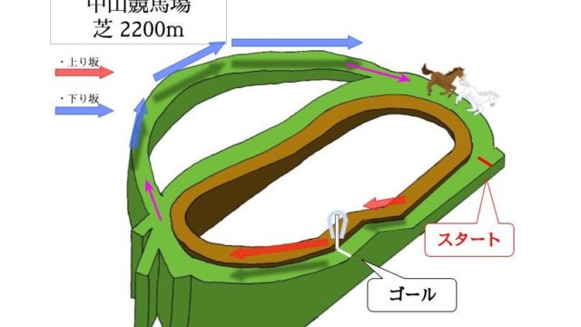 中山競馬場 芝2200mのコースで特徴を解説