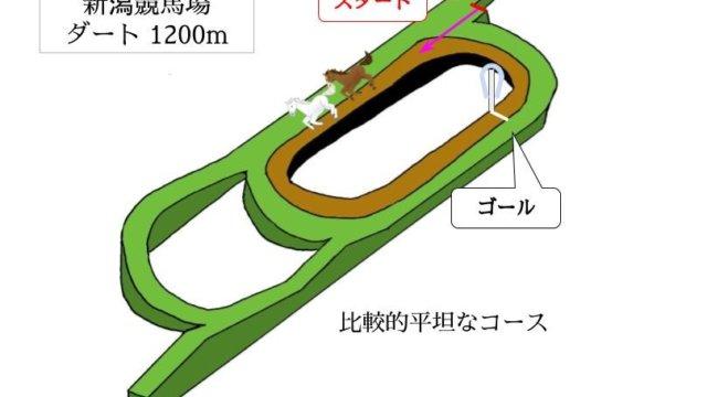 新潟競馬場 ダート1200mのコースで特徴を解説