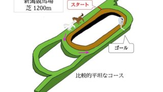 新潟競馬場 芝1200mのコースで特徴を解説