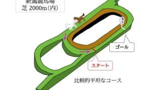 新潟競馬場 芝2000m(内)のコースで特徴を解説