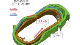 東京競馬場 ダート2100mのコースで特徴を解説